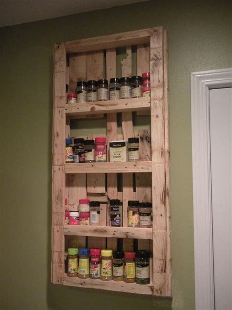 Do It Yourself Spice Rack by My Spice Rack Made From Pallets Palletable Designs