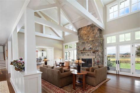 modern ranch home farmhouse living room santa barbara by tom meaney architect aia