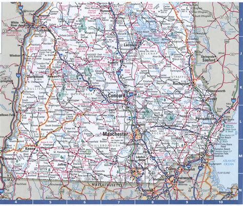 Map Of New Hampshirefree Highway Road Map Nh With Cities