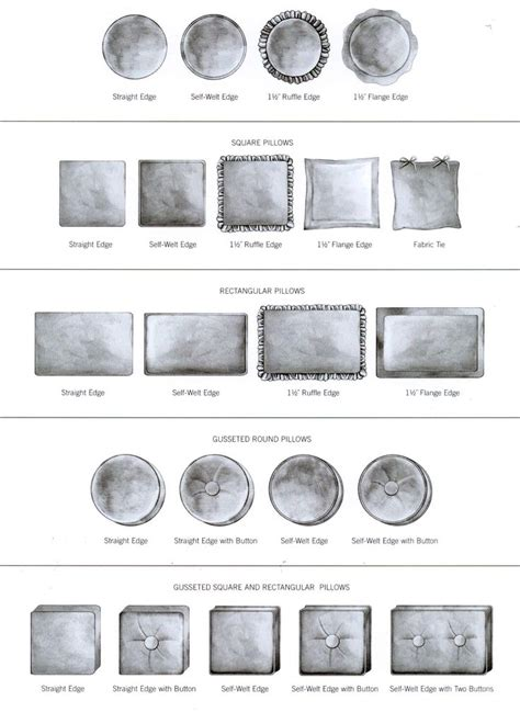 types of pillows 12 best images about pillow and drapery styles on