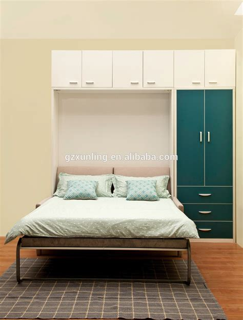 wall beds saving space double murphy wall bed with front sofa and bookshelf buy saving space murphy wall