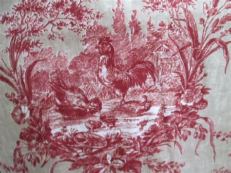 Waverly Red Toile Wallpaper Wallpapersafari
