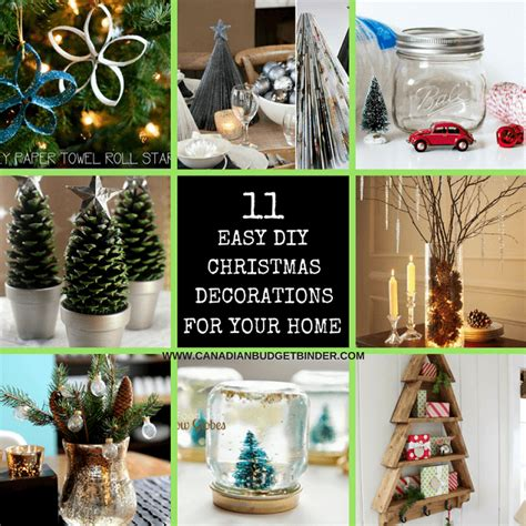 diy easy christmas decorations   home