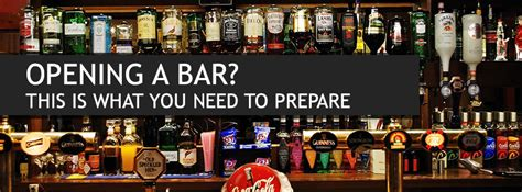 counter high table and chairs opening a bar what supplies and equipment you will need