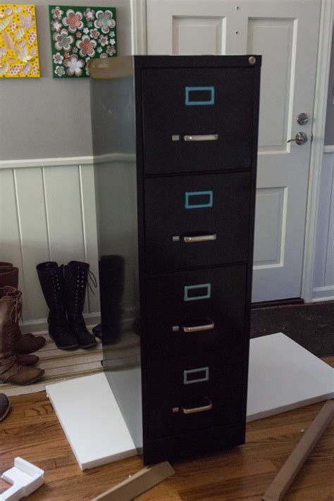 How to Paint and Makeover a Metal File Cabinet ? Rose