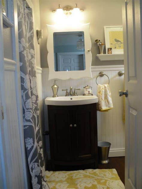 grey and yellow bathroom master bedroom pinterest