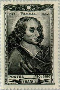 Stamp: Blaise Pascal (1623-1662) (France) (Famous People ...
