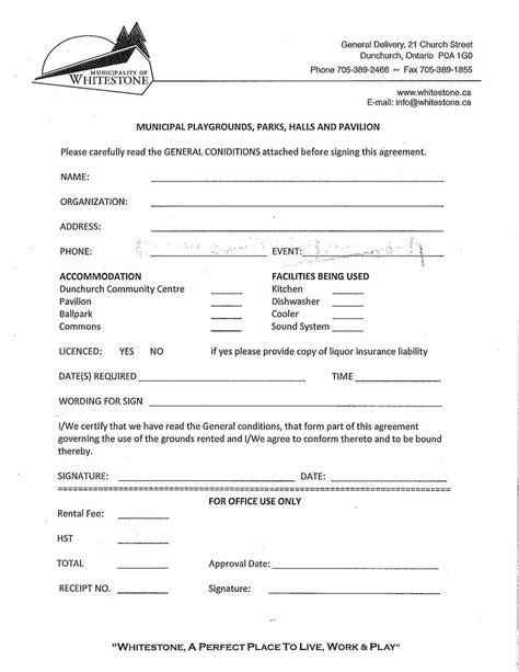 house rental application form ontario rental agreement form municipality of whitestone