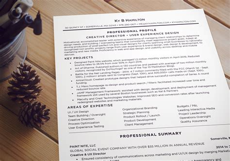 Ux Director Resume by Creative User Experience Director Resume Ky Hamilton