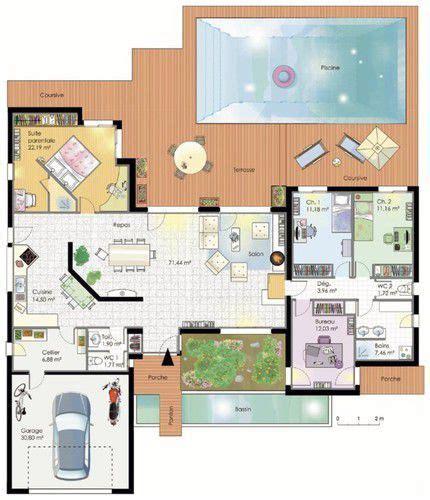 cuisine fonctionnelle plan maison fonctionnelle maison et plans