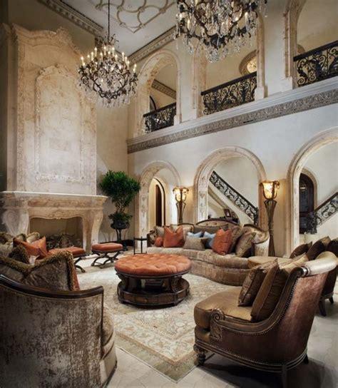 traditional livingroom dramatic mediterranean living room 1