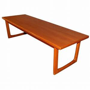 swedish mid century modern teak coffee table or bench for With mid century modern coffee table book