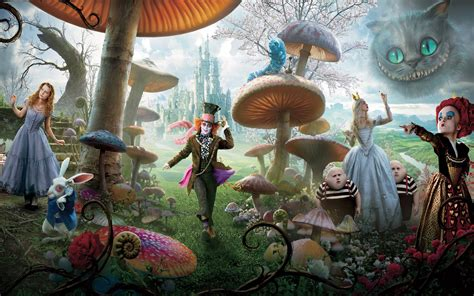 alice  wonderland background image  lumia cartoons