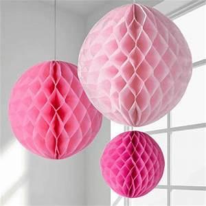 Boule En Papier : boule en papier alveole rose 30cm decoration mariage badaboum ~ Teatrodelosmanantiales.com Idées de Décoration