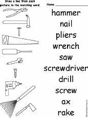 Matching Words and Pictures: Worksheets