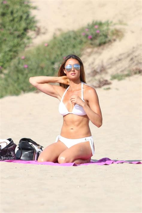katie cleary  white bikini  gotceleb