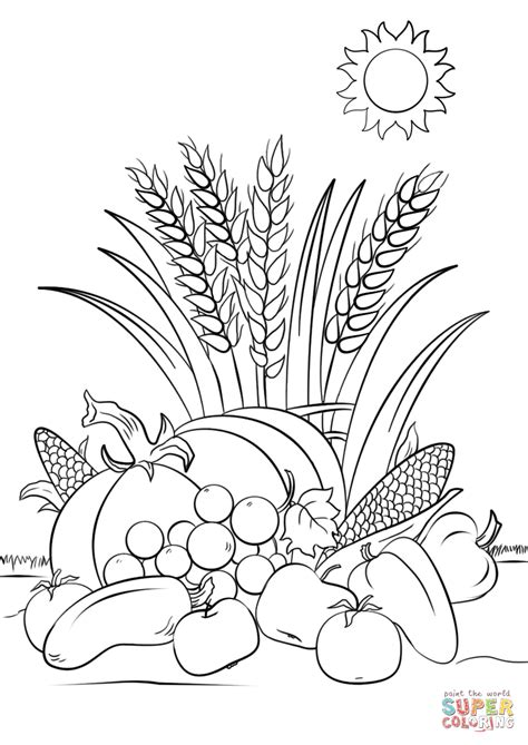 Harvest Coloring Pages Fall Harvest Coloring