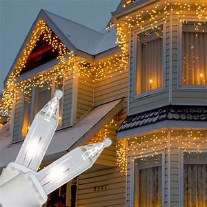 1000 White Christmas Lights 100 Clear Icicle Lights White Cord Wedding Party Deck