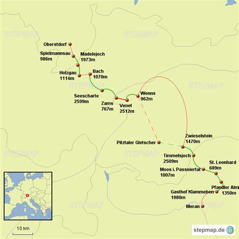 stepmap  oberstdorf meran landkarte fuer deutschland