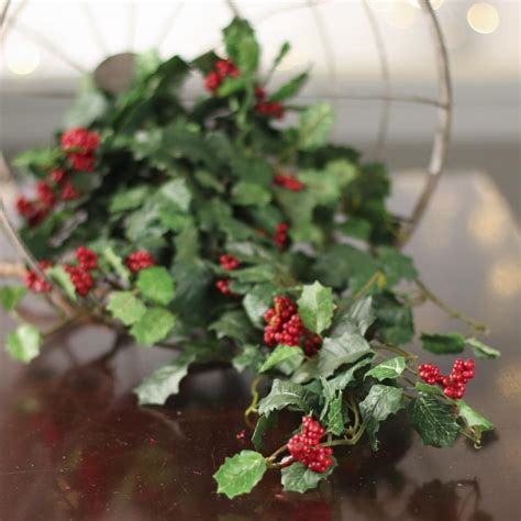 artificial christmas holly ivy bush artificial greenery