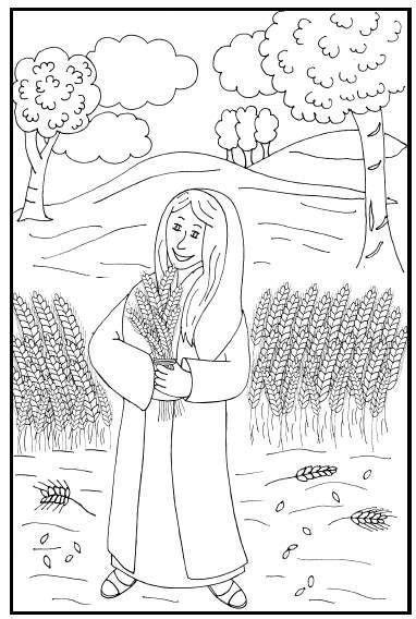 Kleurplaat Ruth by Kleurplaten Categorie Ruth Www Gelovenisleuk Nl Ni 241 Os