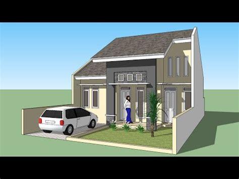 sketchup membuat design rumah minimalis  lantai youtube