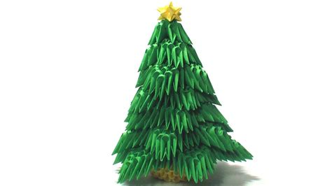 3d origami christmas tree youtube