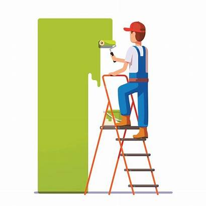 Painter Painting Wall Vector Clip Professional Roller