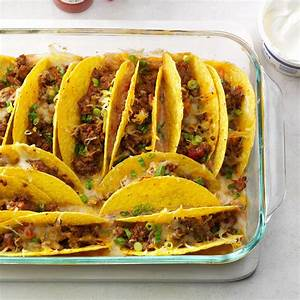 Baked Beef Tacos Recipe Taste of Home