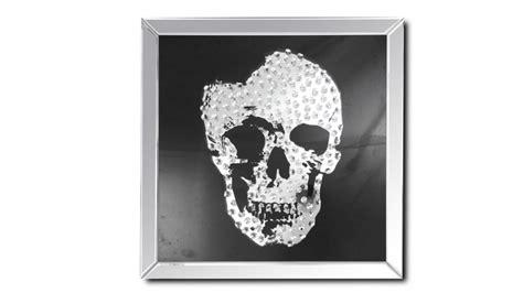 tableau miroir carre avec tete de mort aratika mobilier moss