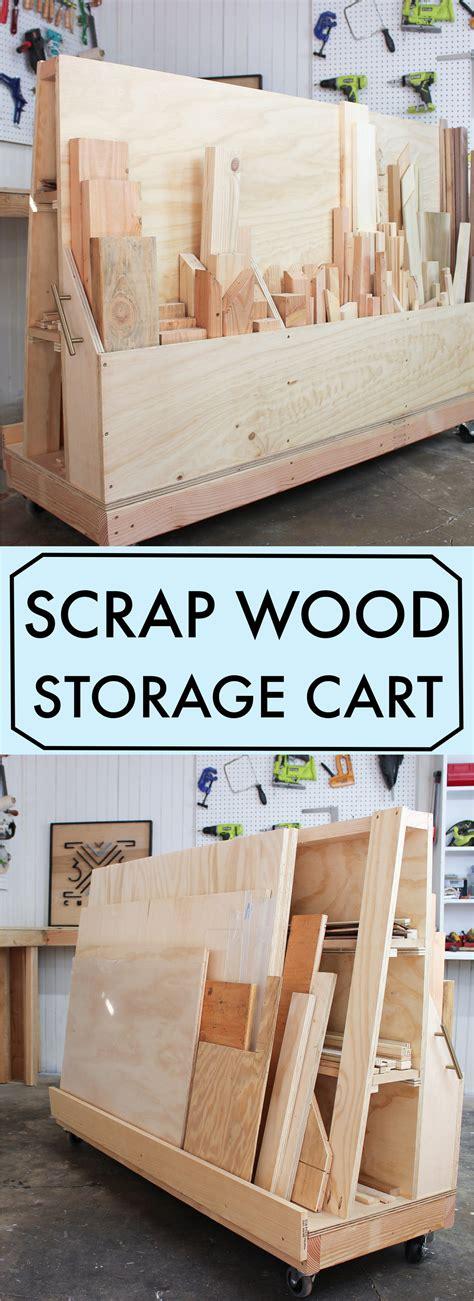rolling scrap wood storage cart  custom