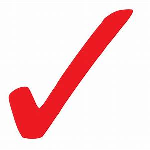 Clipart - Simple Red Checkmark