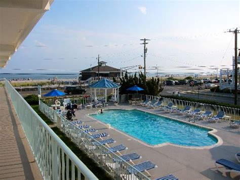 Seacrest Motel Pool With Beach In The Background Picture