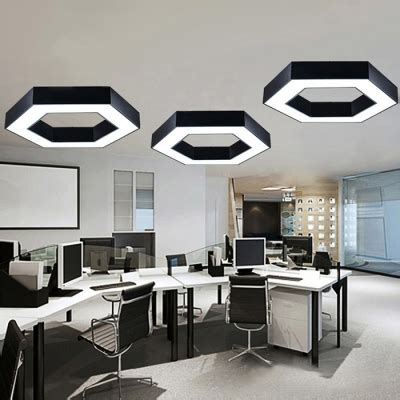 modern lighting geometric black metal acrylic led