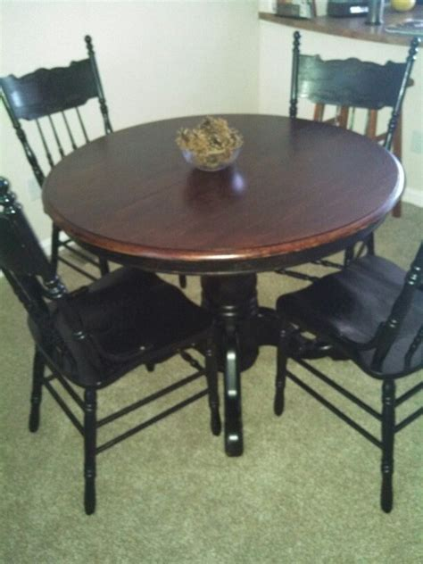 dining table and 4 refinished table home decor dining sets