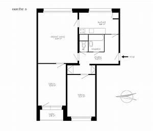 Půdorys panelového bytu 2+1