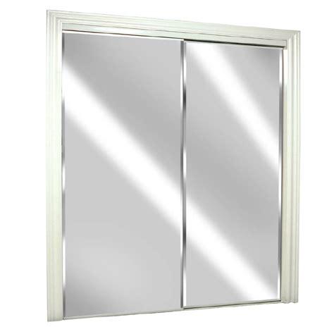 shop reliabilt glass mirror flush mirror sliding closet