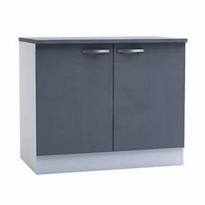 Meuble Tv 1m : meuble bas de cuisine 2 portes 100cm coloris achat vente elements bas meuble bas de ~ Teatrodelosmanantiales.com Idées de Décoration