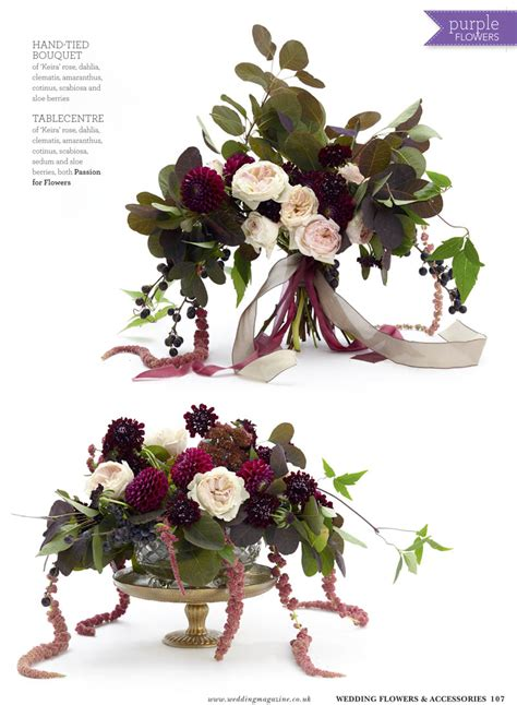 burgundy deep purple flowers  wedding flowers magazine