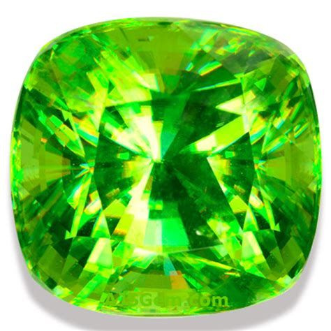 cusion cut sphene gems and jewelry at ajs gems