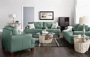 vita 100 genuine leather sofa sea foam the brick With living room furniture the brick