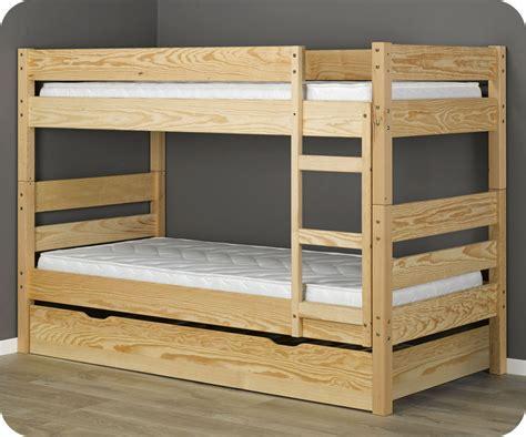 lit mezzanine 2 places avec canapé lit superposé enfant 1 2 3 brut à peindre 90x190 cm avec 2