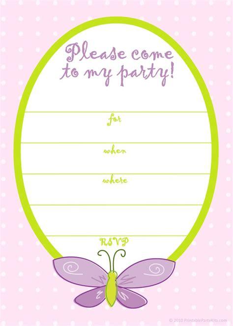 printable girls birthday invitations bagvania