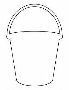 Bucket pattern Use the printable outline for crafts