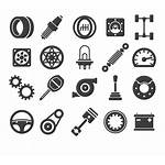 Parts Vector Icons Spare Center Lock Down