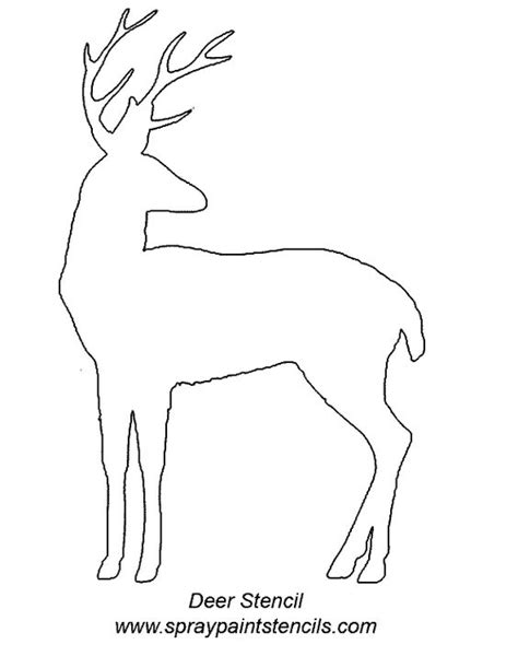 deer template wildlife stencils free like these at stencils which are free of charge for your use