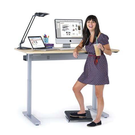 motorized stand up desk electric standing desks powered stand up desks from anthro