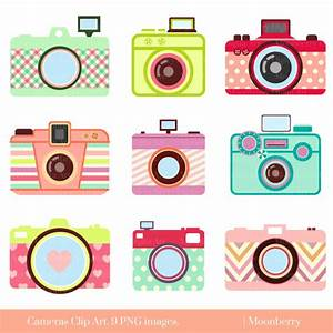 Cute Camera Clip Art CAMERA CLIP ART Retro Digital