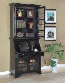 antique black classic secretary desk w optional hutch