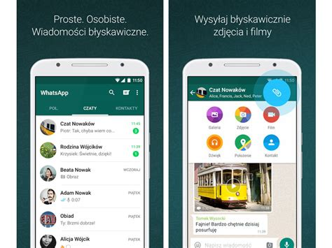 whatsapp messenger aplikacja android pobierz